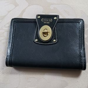 Coach Checkbook or Passport Wallet